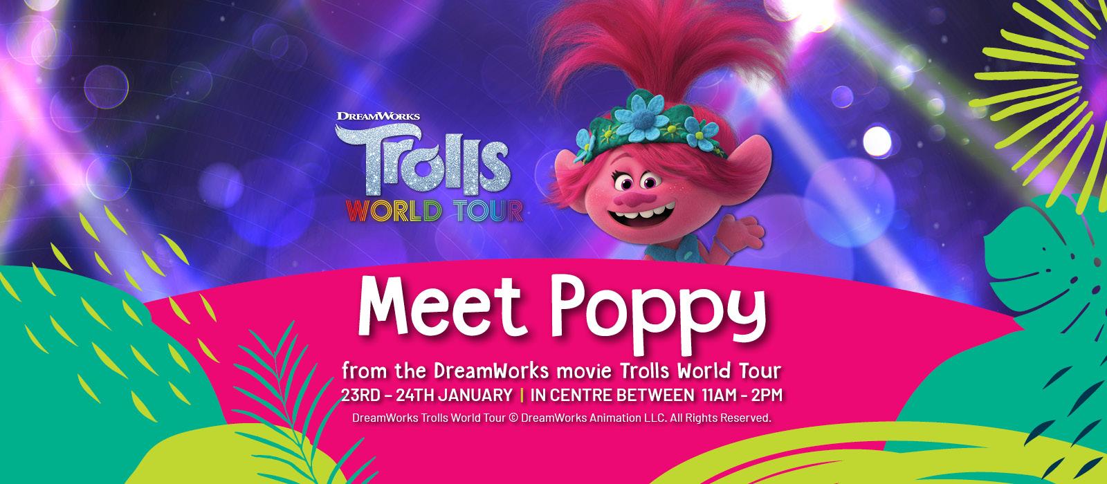 Lidcombe Shopping Centre School Holidays - Trolls Meet Poppy